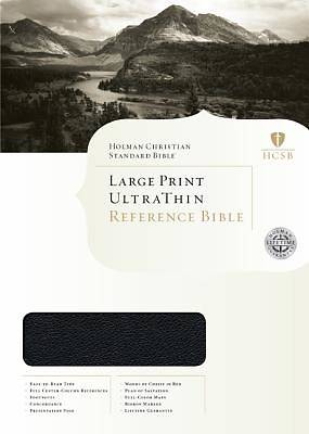 Large Print Ultrathin Reference Bible - HCSB - Legacy Edition
