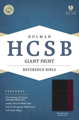 Picture of HCSB Giant Print Reference Bible, Black/Burgundy Leathertouch