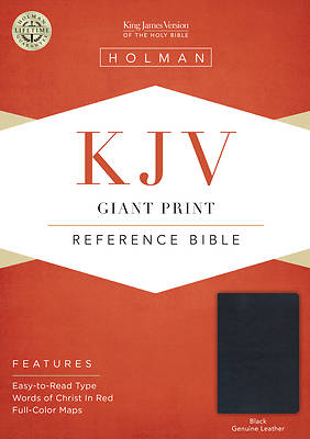 Picture of KJV Giant Print Reference Bible, Black Genuine Leather