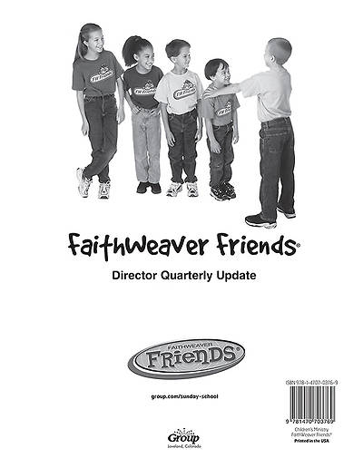 FaithWeaver Friends Preschool & Elementary Director Update Fall 2014