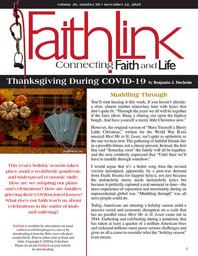 Picture of Faithlink - Thanksgiving During COVID-19 (11/22/2020)