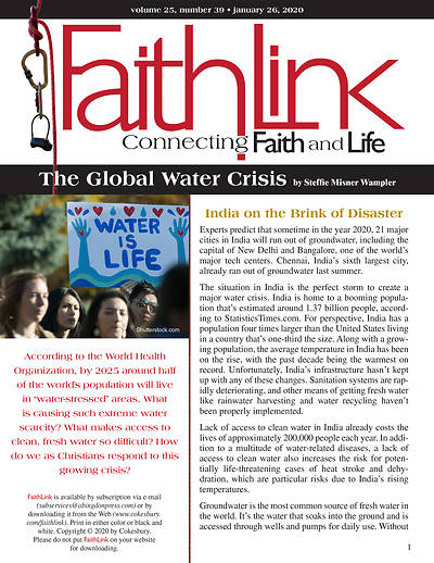 Picture of Faithlink - The Global Water Crisis (1/26/2020)