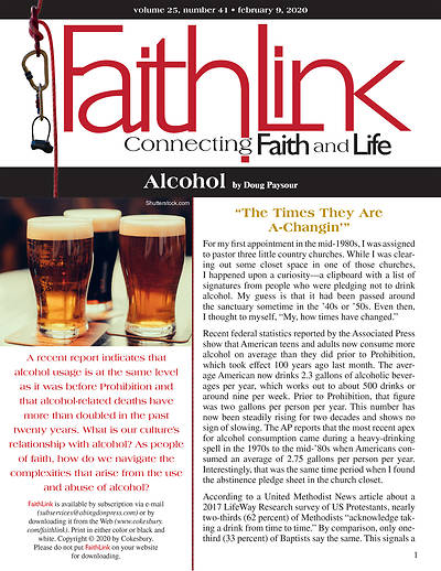 Picture of Faithlink - Alcohol (2/9/2020)