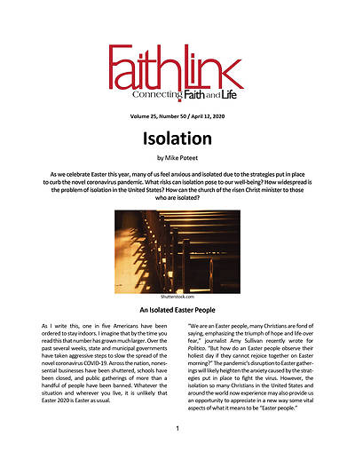 Picture of Faithlink - Isolation (4/12/2020)