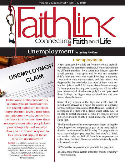 Picture of Faithlink - Unemployment (4/19/2020)