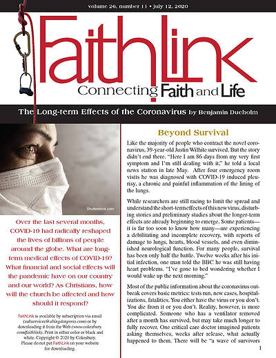 Picture of Faithlink - 07/12/2020 The Long-term Effects of the Coronavirus