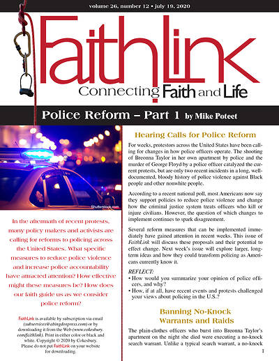 Picture of Faithlink - July 19, 2020 Police Reform  Part 1