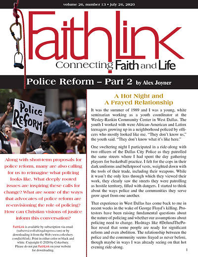Picture of Faithlink - 7/26/2020  Police Reform  Part 2
