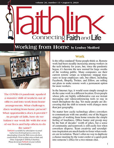 Picture of Faithlink - Working from Home (8/9/2020)