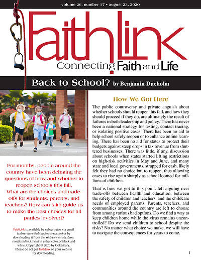 Picture of Faithlink - 08/23/2020 - Back to School?