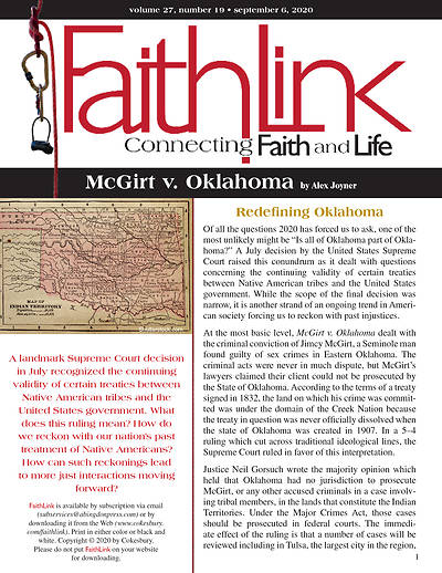Picture of Faithlink - McGirt v. Oklahoma (9/6/2020)