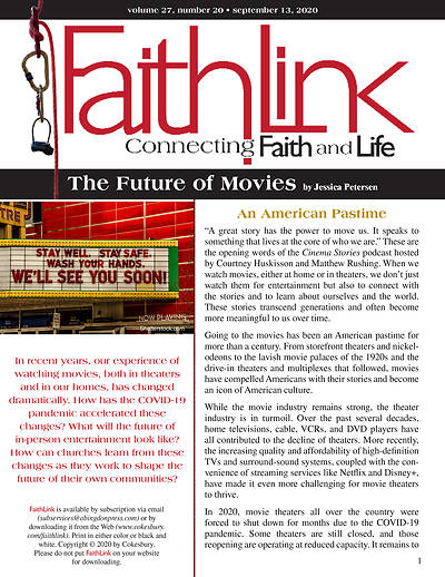 Picture of Faithlink - The Future of Movies (9/13/2020)