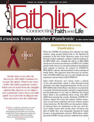 Picture of Faithlink - Lessons from Another Pandemic (9/20/2020)
