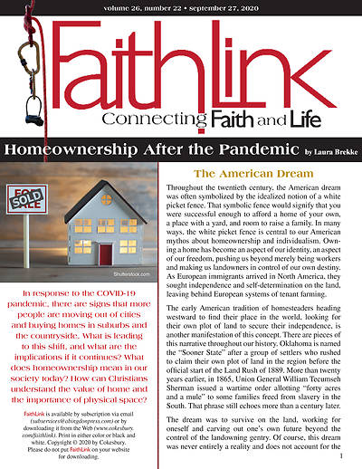 Picture of Faithlink - Home Ownership After the Pandemic (09/27/2020)