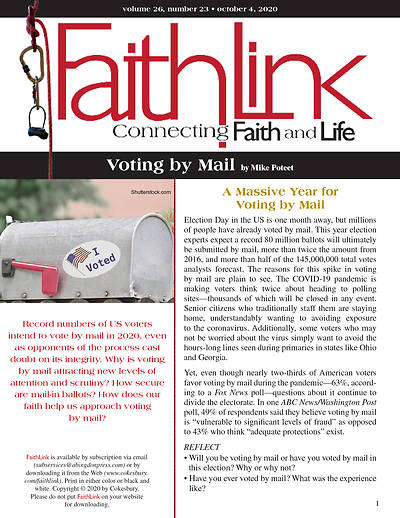 Picture of Faithlink - Voting by Mail (10/4/2020)