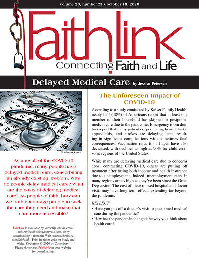 Picture of Faithlink - Delayed Medical Care (10/18/2020)