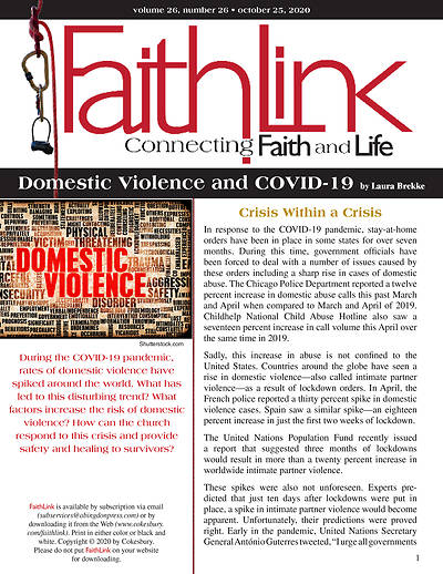 Picture of Faithlink - Domestic Violence and COVID-19 (10/25/2020)