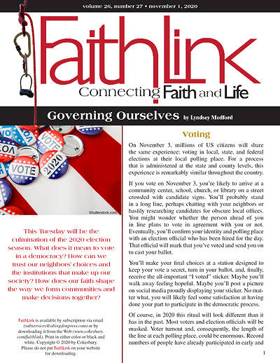 Picture of Faithlink - Governing Ourselves (11/01/2020)