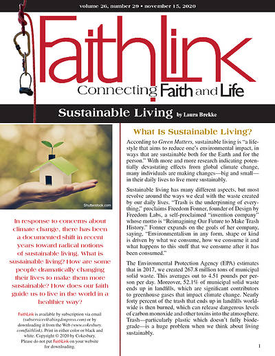 Picture of Faithlink - Sustainable Living (11/15/2020)