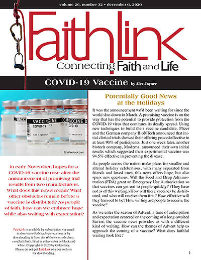 Picture of Faithlink - COVID-19 Vaccine (12/6/2020)
