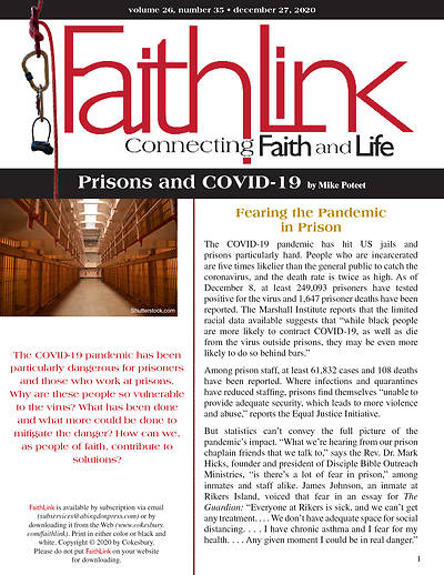 Picture of Faithlink - Prisons and COVID-19 (12/27/2020)