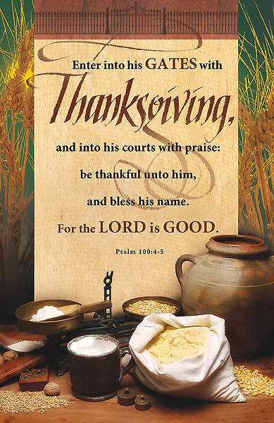 Thanksgiving Bulletin Psalm 100:4-5 Regular (Package of 100)