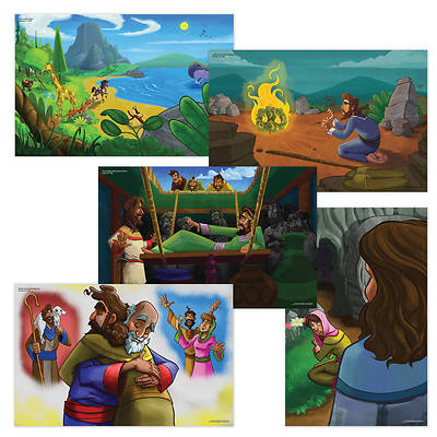 Picture of Vacation Bible School (VBS) 2021 Discovery on Adventure Island Bible Story Poster Pak