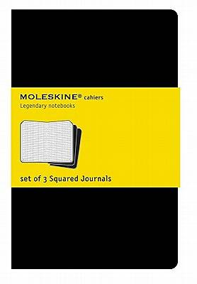 Journal Moleskine Cahier Square Black Extra Large