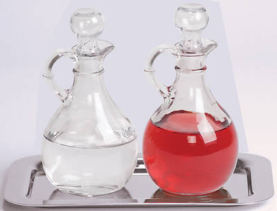 Picture of Koleys K381 Cruet with Stainless Steel Tray Set