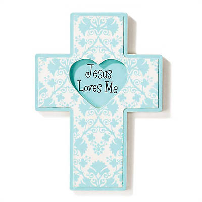 Jesus Loves Me Boy Wood Wall Cross