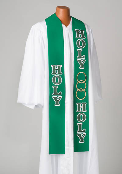 "Celebration Green Holy 110"" Stole"