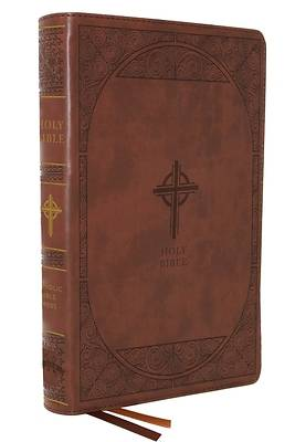 Picture of Nabre, New American Bible, Revised Edition, Catholic Bible, Large Print Edition, Leathersoft, Brown, Thumb Indexed, Comfort Print