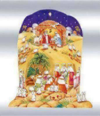 Nativity Scene Pop-up Advent Calendar #CA602