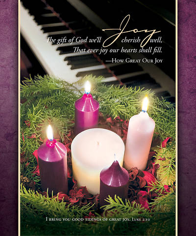 Picture of Joy Advent Legal Size Bulletin