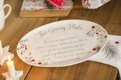 """Picture of Ceramic, Yuletide """"The Giving Plate"""" 14'' Platter"""
