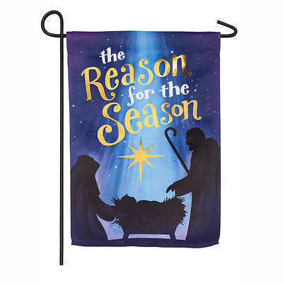 Picture of Reason for the Season Garden Suede Flag