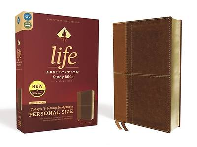 Picture of NIV Life Application Study Bible, Third Edition, Personal Size, Leathersoft, Brown, Red Letter Edition