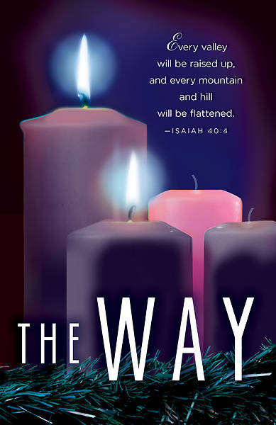 Picture of The Way Advent Candle Sunday 2 Bulletin (Pkg of 50)