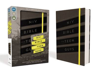 NIV Bible for Teen Guys, Imitation Leather, Charcoal, Elastic Closure