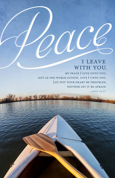 Funeral-Peace Regular Size Bulletin - John 14:27 Peace