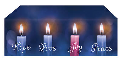 Picture of Lights of Advent Altar Frontal - Blue