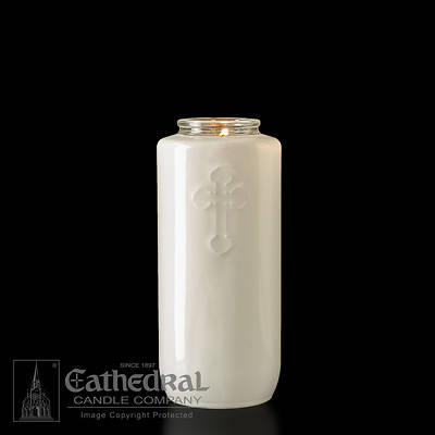 Cathedral 5-Day Glass Offering Candle - Opal