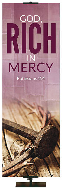 Picture of Easter Adorations Rich in Mercy 2' x 6' Fabric Banner