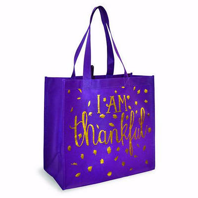 Picture of Eco Tote-Plum Thankful Heart