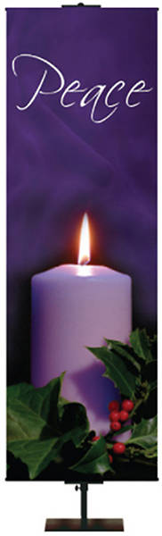 "Photo Series Peace Purple Advent Banner 18"" x 60"""