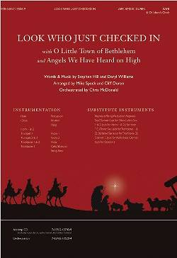 Look Who Just Checked In with O Little Town of Bethlehem Accompaniment CD