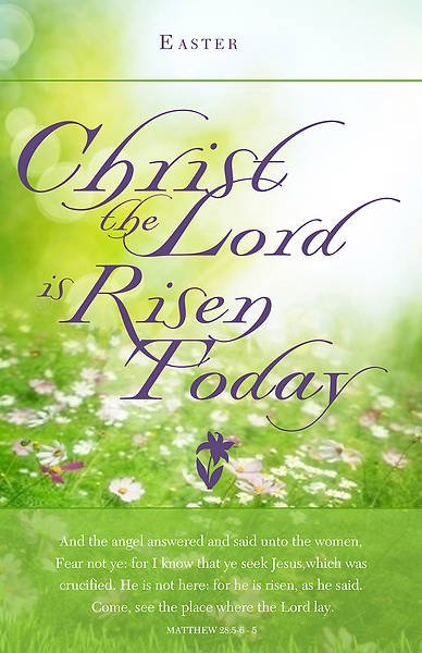 Christ the Lord is Risen Today Easter Regular Size Bulletin