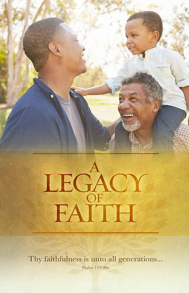 Picture of A Legacy Of Faith General Regular Size Bulletin