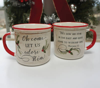 Picture of Come Let Us Adore Him Camping Mug - Boxed