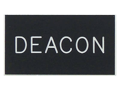 Black and White Deacon Magnetic Badge